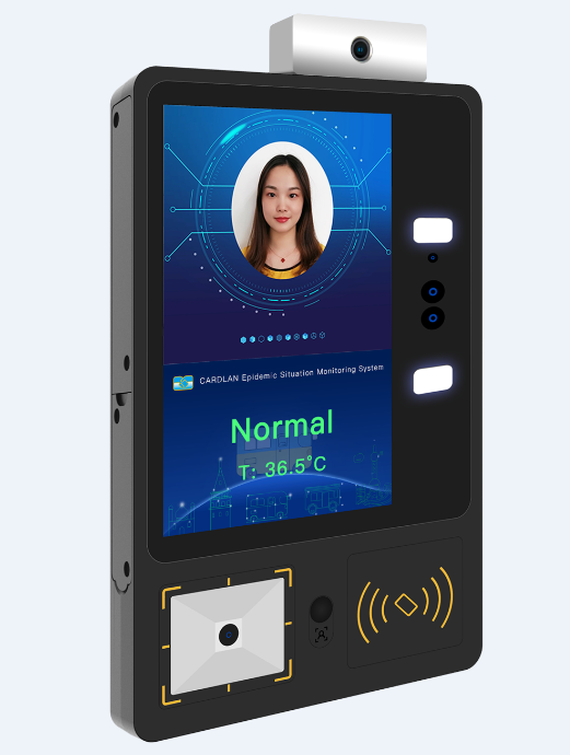 Factory produced face recognition temperature measurement alarm system